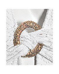 Trina Turk | White Crochet Knit Ring Detail Hater Swimsuit | Lyst