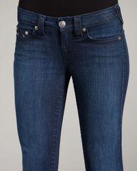 True Religion - Blue Tori Lonestar Staple-stitch Boot-cut Jeans - Lyst