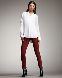 VINCE | Red Slim Jeans, Rust | Lyst