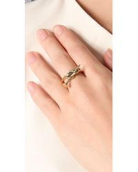 A.L.C. | Metallic Knotted Nail Ring | Lyst