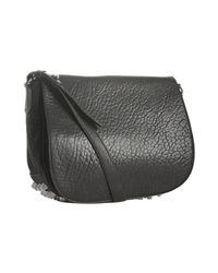 Alexander Wang | Black Leather Lia Sling Studded Shoulder Bag | Lyst