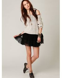 Free People - White Marled Yarn Pullover - Lyst