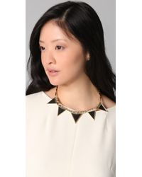 House of Harlow 1960 - Metallic Triangle Armor Five Station Necklace - Lyst