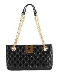 Jaeger | Black Quilted Shoulder Bag | Lyst