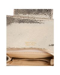 Jimmy Choo - Metallic Champagne Glitter Fabric Caro Convertible Chain Strap Pouch Clutch - Lyst
