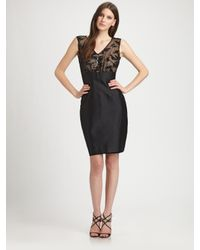 Kay Unger - Black Sequined Dress - Lyst