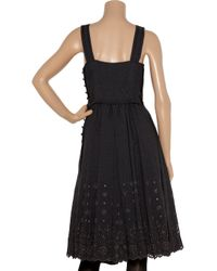 Marc Jacobs - Gray Broderie Anglaise Wool-blend Dress - Lyst