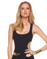 Michael Kors | Black Back-strap Bodysuit | Lyst