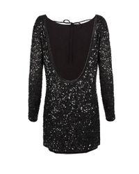 AllSaints - Black Biella Fraise Silk-crepe Dress - Lyst