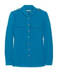 Burberry Brit - Blue Stretch-twill Shirt - Lyst