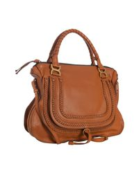 Chloé | Brown Tan Calfskin Braided Leather Marcie Large Shoulder Bag | Lyst
