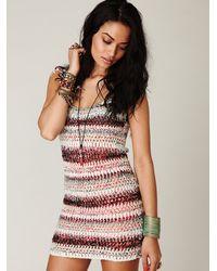 Free People - Multicolor Fp New Romantics Sweater Fringe Dress - Lyst