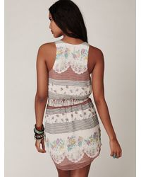 Free People - White Georgette Shirttail Dress - Lyst