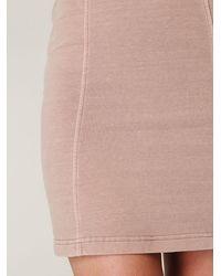 Free People - Pink Denim Corset Bodycon Slip - Lyst