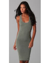 James Perse | Green Twisted Tank Dress | Lyst
