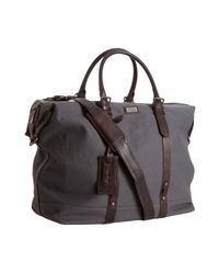 Kenneth Cole - Gray Grey Canvas Duff-minded Duffel Bag for Men - Lyst