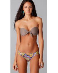 L*Space - Brown Beverly Bandeau Bikini Top - Lyst