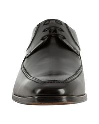 Mezlan | Black Leather Stitch Detailed Oxfords for Men | Lyst