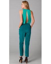 Tibi - Blue Colorblock Jumpsuit - Lyst