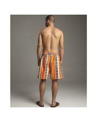 Vilebrequin   Orange Turtle Stripe Print Moorea Swim Trunks for Men   Lyst