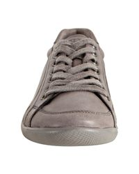 Prada - Gray Sport Steel Leather Lace Up Sneakers for Men - Lyst