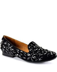 Jeffrey Campbell | Elegant - Black Suede Jeweled Loafer | Lyst