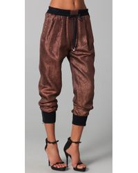 3.1 Phillip Lim - Metallic Lurex Track Pants - Lyst
