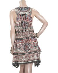 Anna Sui - Red Paisley Scarf Dress - Lyst
