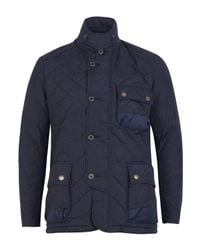 Barbour | Blue Navy Beall Quilted Jacket for Men | Lyst