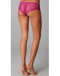Calvin Klein - Pink Naked Glamour All Lace Hipster - Lyst
