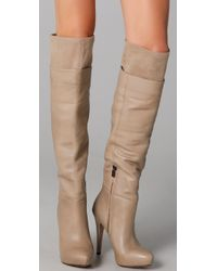 Sam Edelman - Natural Remy Over The Knee Top Line Boots - Lyst