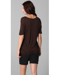 T By Alexander Wang - Black Classic Tee with Pocket - Lyst