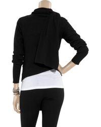 Y-3 - Black Cashmere-blend Scarf Cardigan - Lyst