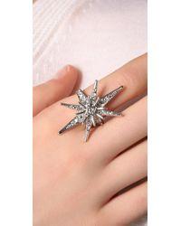 Belle Noel - Metallic Pave Star Ring - Lyst