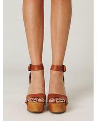 Free People - Brown Alisa Ankle Strap Platform - Lyst