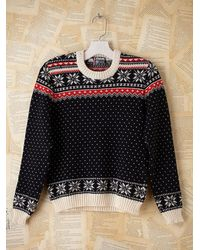 Free People | Multicolor Vintage Fairisle Ski Pullover Sweater | Lyst