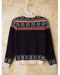 Free People - Multicolor Vintage Fairisle Ski Pullover Sweater - Lyst