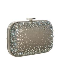 Gucci | Metallic Champagne Satin Crystal Embellished Minaudiere | Lyst