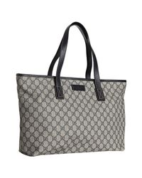 Gucci | Natural Navy Gg Plus Large Shopper Tote | Lyst