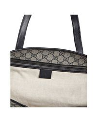 Gucci | Blue Navy Gg Plus Large Shopper Tote | Lyst