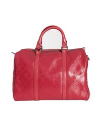 Gucci - Red Gg Imprime Joy Medium Boston Bag - Lyst