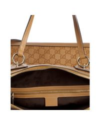 Gucci | Natural Tan Ssima Leather Charm Large Bag | Lyst