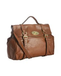 Mulberry | Brown Oak Buffalo Leather Alexa Oversized Satchel | Lyst