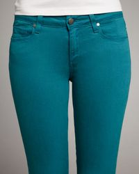 PAIGE | Blue Verdugo Teal Jeggings | Lyst