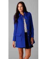 Rebecca Taylor | Blue Runway Coat | Lyst