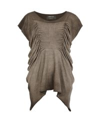 AllSaints - Brown Tilly Tee - Lyst