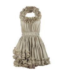 AllSaints - Gray Allegra Dress - Lyst