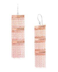 Anna Beck | Pink Fan Long Chain & Fringe Earrings | Lyst