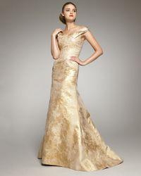 Carolina Herrera | Metallic Jacquard Off-shoulder Gown | Lyst