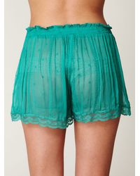 Free People - Blue Chiffon Tulip Short Set - Lyst
